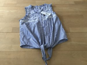 Knoten Bluse -gestreift-