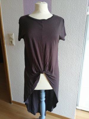 Zara Jurk met langere achterkant grijs-donkergrijs