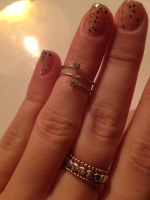 Knuckle Ring Strass Modeschmuck