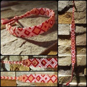 Friendship Bracelet red-pink