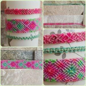Bracelet pink-turquoise