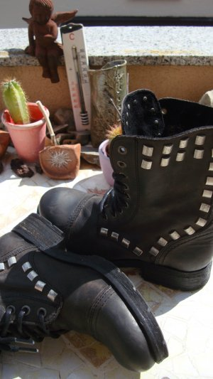 Lace-up Boots multicolored leather