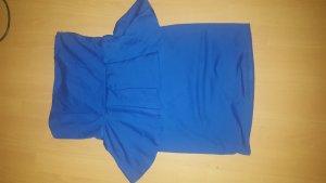 Zara Vestido peplum azul