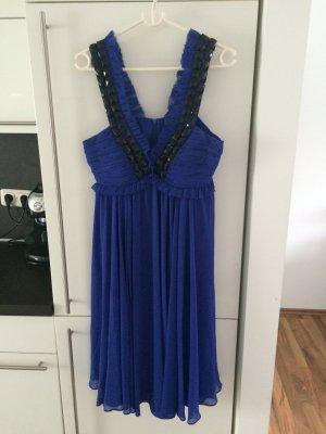 Kobalt blaues Kleid mit tollen Ausschnitt