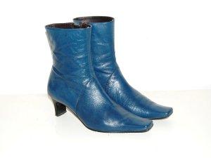 Kobaltblaue Vintage Stiefeletten