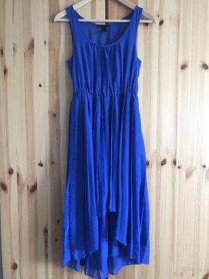 H&M Jurk met langere achterkant blauw