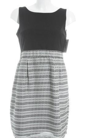 Kocca Etuikleid schwarz-weiß abstraktes Muster Elegant
