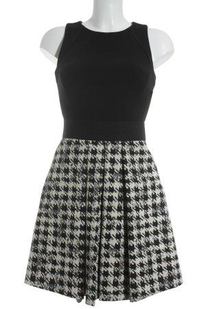 Kocca Minikleid schwarz-creme Hahnentrittmuster Elegant