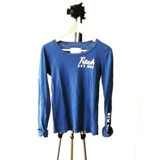 königblaues A&F shirt / longsleeve / langarm / blau