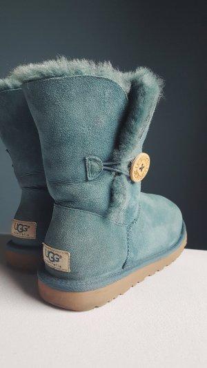 UGG Australia Bottes de neige bleuet-beige laine