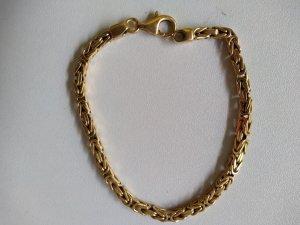 Bracelet gold-colored real gold