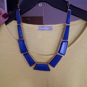 Collier blu-oro Materiale sintetico