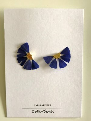 königsblaue Federohrringe