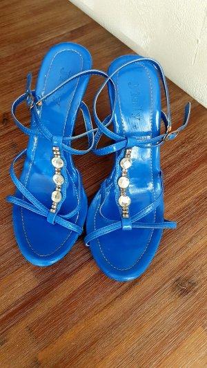 High Heel Sandal neon blue-cornflower blue