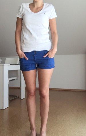 Königsblaue Twill-Shorts ungetragen