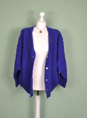 Königsblauer Vintage Cardigan mit Goldenen Knöpfen