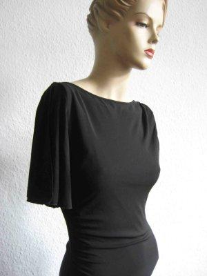 Körperbetonendes Abendkleid von Mango, schwarz - asymmetrische Ärmel und ausgeschnittener Rücken