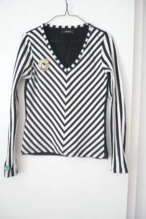 Körpernahes Sweatshirt, gestreift, Gr. 36/ S, College-Stil