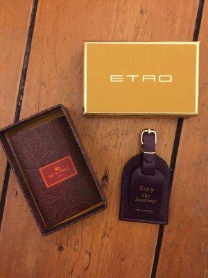 Kofferanhänger aus Leder von Etro, neu und unbenutzt