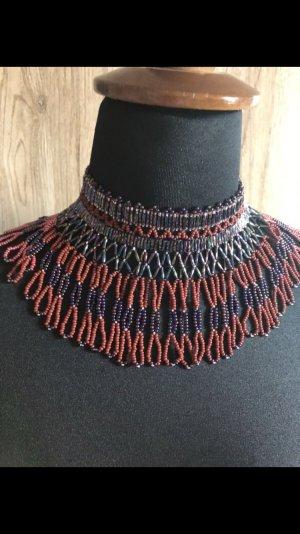 Collier Necklace black-dark red