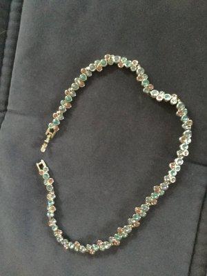 Swarovski Collier Necklace pink-baby blue