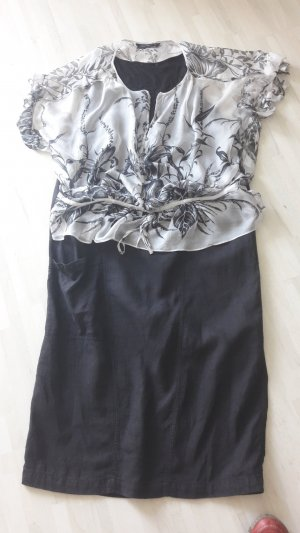 Kombi aus Seiden Bluse (Zara) + Leinen Rock ( Flaxxxs ) Gr.46