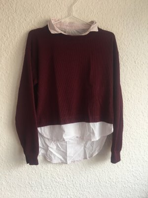 Kombination aus Hemd und Pullover