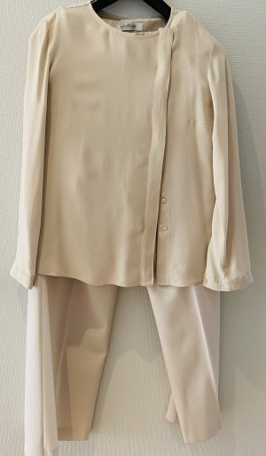 Max Mara Tailleur pantalone beige chiaro Tessuto misto