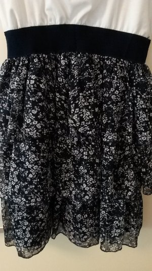Vestido blanco-azul oscuro