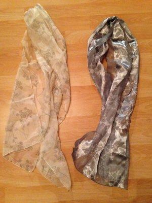 Zijden sjaal zilver