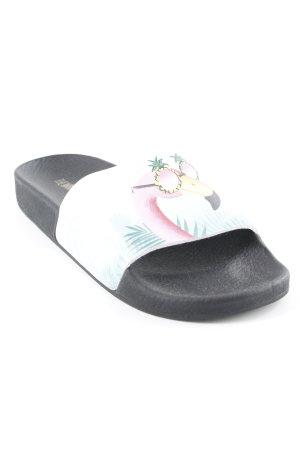 Comfortabele sandalen abstracte print casual uitstraling