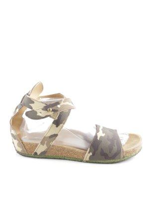 Comfort Sandals camouflage pattern street-fashion look