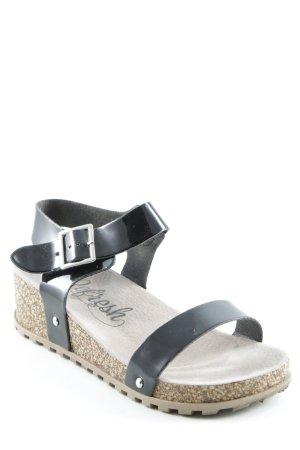 Sandalias cómodas negro look casual