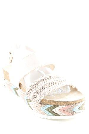 Sandales confort motif en zigzag style hippie