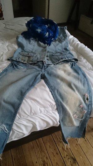 3/4 Length Jeans azure-steel blue