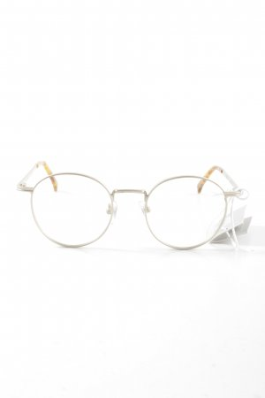 Komono Glasses silver-colored-light orange business style