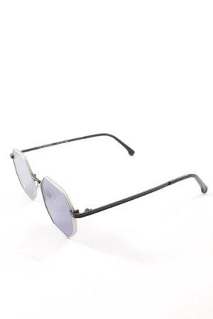 Komono Brille silberfarben-blau extravaganter Stil