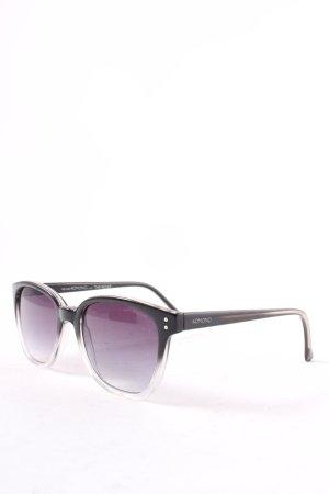 Komono eckige Sonnenbrille silberfarben-schwarz Street-Fashion-Look