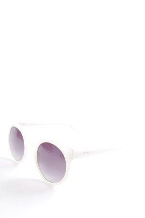Komono Retro Brille weiß extravaganter Stil