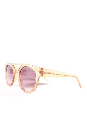 Komono runde Sonnenbrille hellbraun Street-Fashion-Look