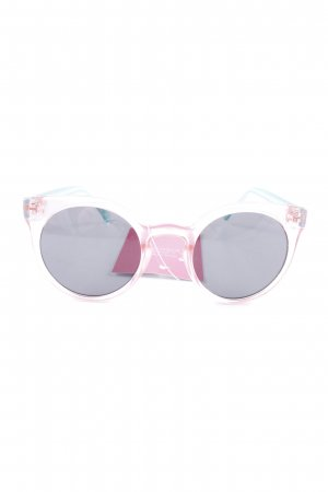 Komono runde Sonnenbrille rosa-hellgrün Casual-Look