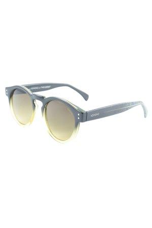 Komono Ronde zonnebril zwart-geel