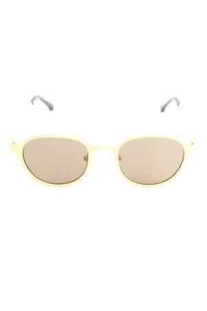 """Komono runde Sonnenbrille """"The Levi"""" blassgelb"""