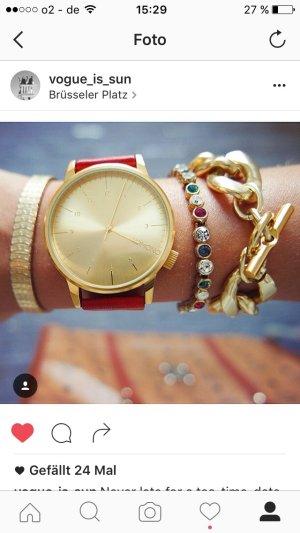 Komono Uhr Armbanduhr breit Leder Armband