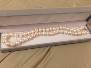 Komplett NEU Echt Süßwasser Perle Halskette