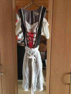 Komplett-Set! Dirndl mit eingearbeiteter Bluse und Spitzenschürze, 32, Spiet & Wensky