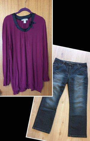Komplettes Outfit Oberteil und Jeans Größe 48