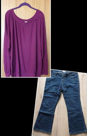 Boot Cut Jeans pink-blue