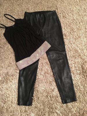 Zara Woman Twin set zwart-zilver