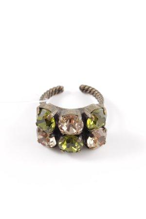 Komplott Statement Ring gold-colored-khaki elegant